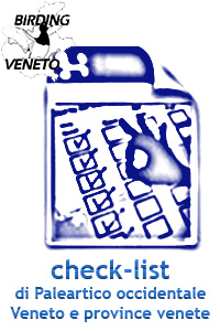 CHECK LIST DEL PALEARTICO OCCIDENTALE